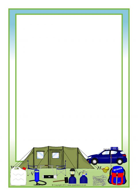 Camping A4 Page Borders SB8552