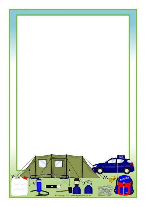 camping a4 page borders  sb8552