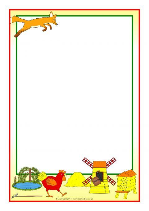 rosie u2019s walk a4 page borders  sb6367