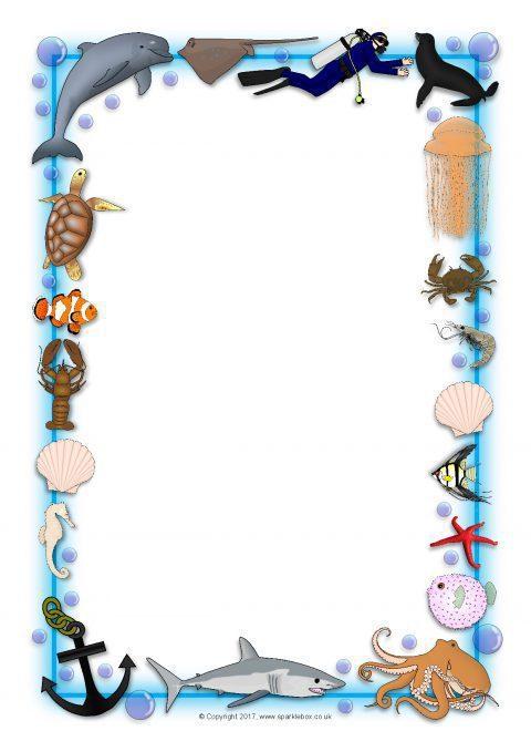Ocean Themed A4 Page Borders Sb3881 Sparklebox