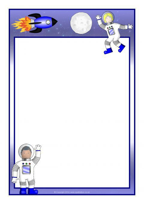 astronaut a4 page borders  sb10636
