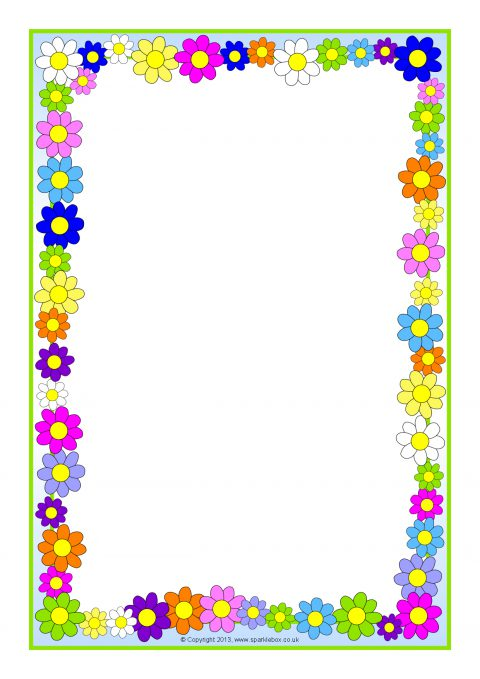 Spring Season Primary Teaching Resources and Printables SparkleBox – Free Page Border Templates for Microsoft Word