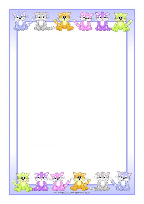 cats  kittens a4 page borders  sb8471