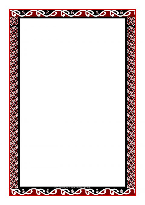 Maori Art Themed A4 Page Borders Sb8033 Sparklebox