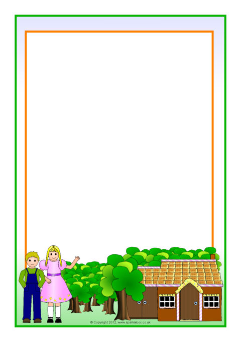 hansel and gretel a4 page borders  sb8821