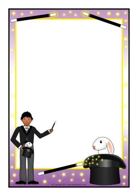 magician a4 page borders  sb10088