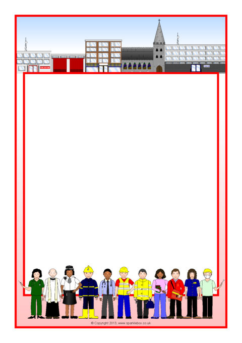 Classroom Officers Design ~ Our local community a page borders sb sparklebox