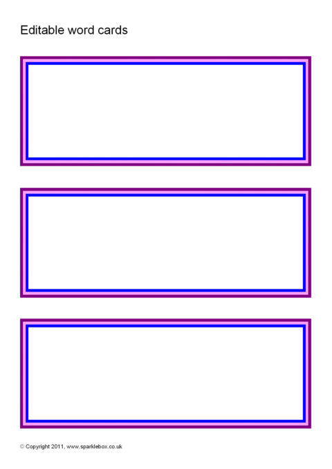 editable word cards  sb6266