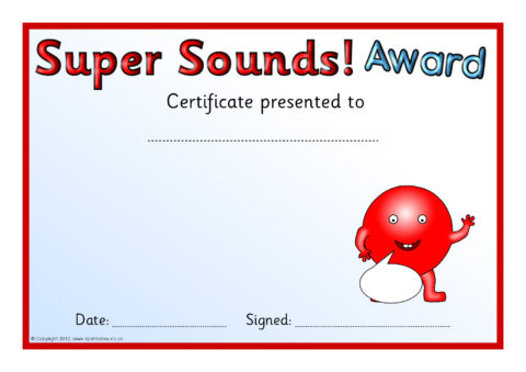Editable Phonics Sounds Award Certificates (SB7091 ...