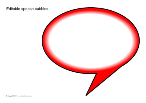 graphic relating to Speech Bubble Printable called Editable Speech Bubbles (SB5224) - SparkleBox