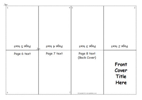 CutOut Mini Booklet Template SB SparkleBox - 8 page booklet template