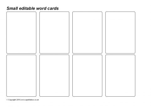 Editable Basic Word Cards (SB3520)