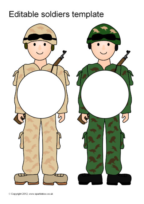 editable soldiers template  sb7089