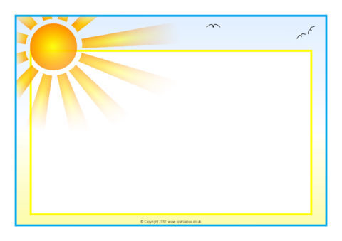 Terms Of Use >> Weather-Themed A4 Page Borders – Landscape (SB6478 ...