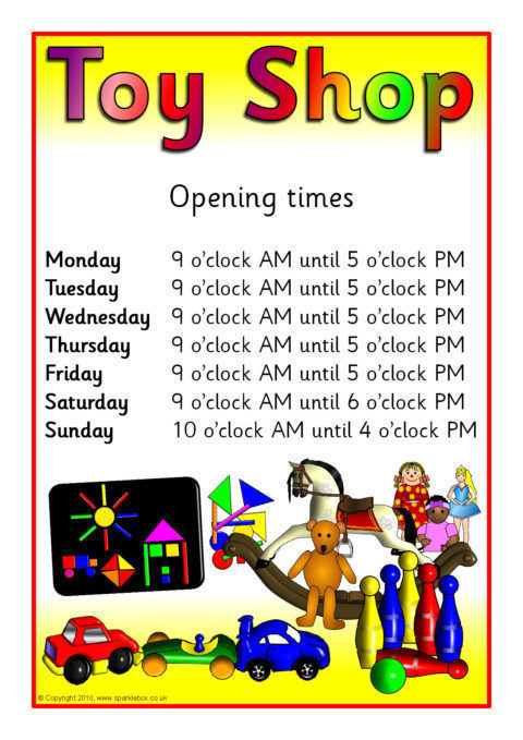 toy shop role-play pack  sb377