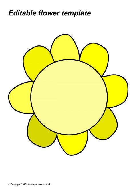 Editable A4 Flower Templates (SB7048) - SparkleBox